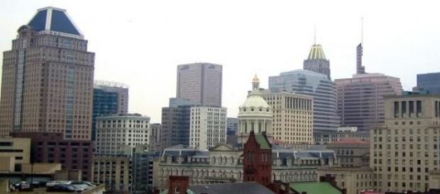 Baltimore USA zamieszki z protestującymi.