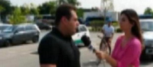 Bandido comete assalto contra equipe da TV Tribuna