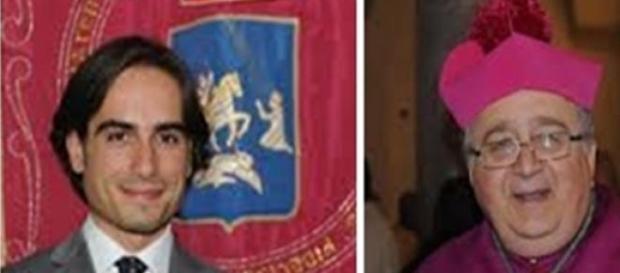 Il Sindaco Falcomatà e il Vescovo Morosini