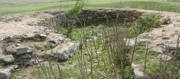 Rămășițele unei camere din cetatea Ulmetum
