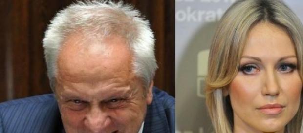 Stefan Niesiołowski i Magdalena Ogórek