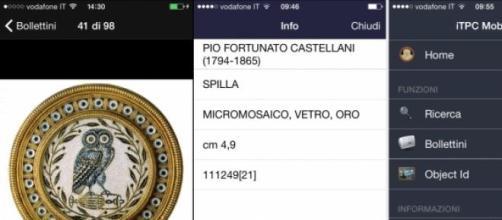 Applicazione iTPC Carabinieri: alcune schermate
