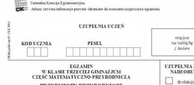 Arkusz: egzamin gimnazjalny 2015, mat. prasowy