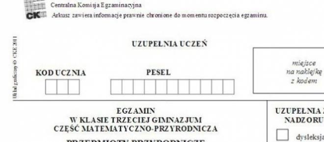 Egzamin gimnazjalny 2015: przecieki