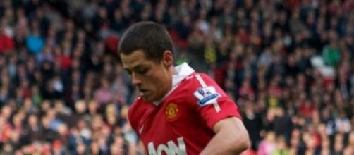 Chicharito Hernandez con el Manchester United