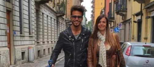 Marco Ferri y su madre en Italia