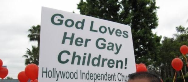 Manifestacón a favor de la homosexualidad
