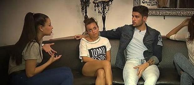 Paula, María y Anais cuando pretendían a Iván