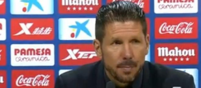 Conferencia de prensa del Cholo Simeone tras la victoria del Atlético 0-1 ante el Villarreal.