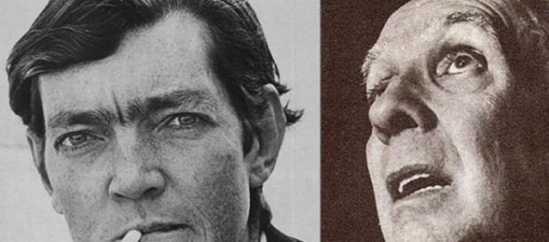 Cortázar e Borges, ícones da literatura argentina.