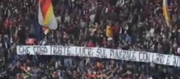 Striscioni offensivi all'Olimpico