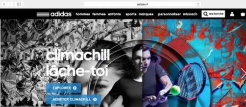 Le site Internet d'Adidas.