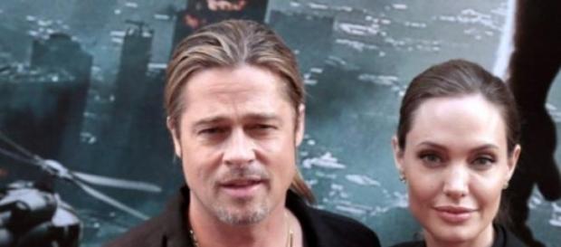 Brad Pitt junto a Angelina luego de la operación