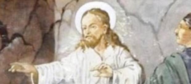 Detalle del polémico cuadro de Jesús y Hitler