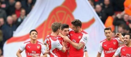 Hector Bellerin scored the opener for Arsenal