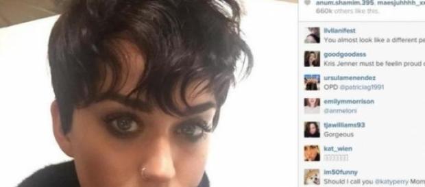 Imagen de Instagram del nuevo look de Katy Perry
