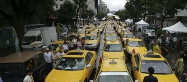 Taxistas de Pequim solidários com protesto