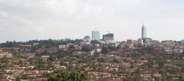 City center seen from the hills of Kigali