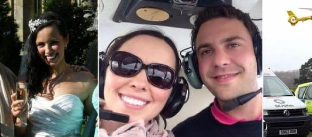 tineri casatoriti, accident, avion