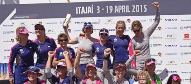 Tripulação feminina Team SCA na Volvo Ocean Race