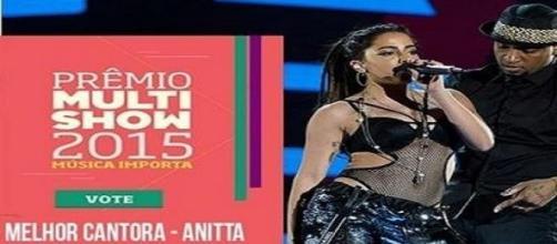 Anitta está concorrendo a 4 categorias