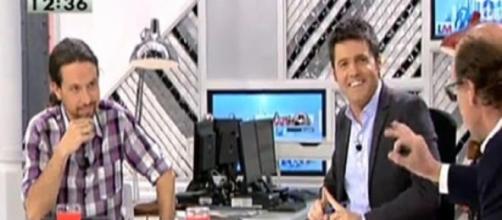 Pablo Iglesias y Cintora en su programa