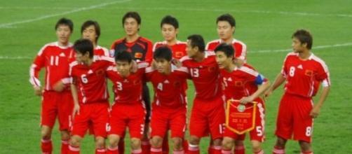 Selección China en imagen de archivo