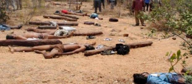 Foram encontrados 20 mortos nas proximidades