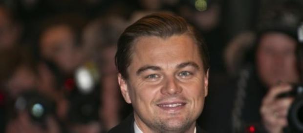 Leonardo DiCaprio en el estreno de una película