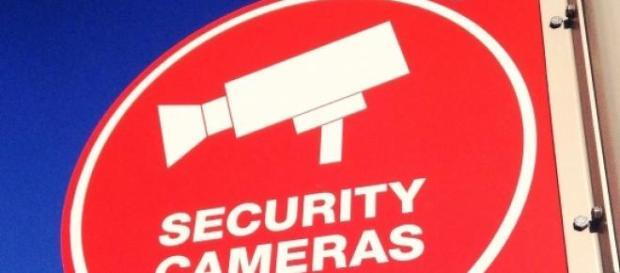 NSA Security Cameras Schild