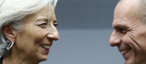 Christine Lagarde e Yanis Varoufakis