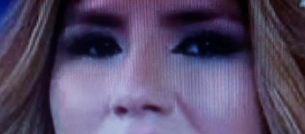 Chabelita durante unas declaraciones en Telecinco