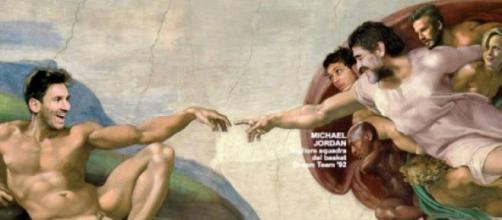 Lionel Messi y Diego Maradona en la cima del mundo