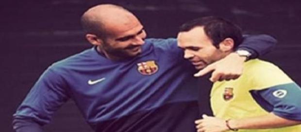 Andrés Iniesta ya espera a Josep Guardiola
