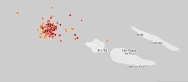 Atividade sísmica junto à ilha do Faial