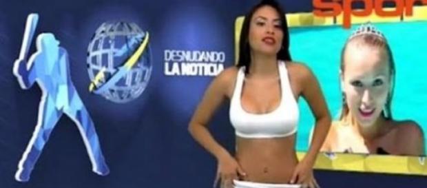 Yuvi Pallares com Danielle Chavez em fundo
