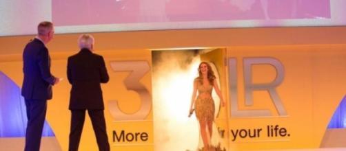 Cristina Ferreira no palco. Foto: Daily Cristina