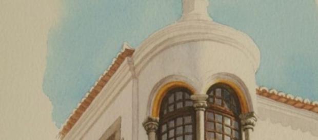 Aguarela do Palácio D. Manuel, em Évora