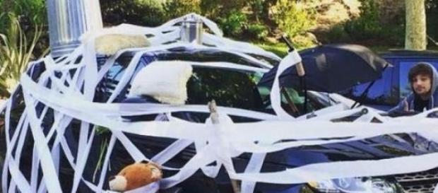 Assim ficou o carro de Niall Horan