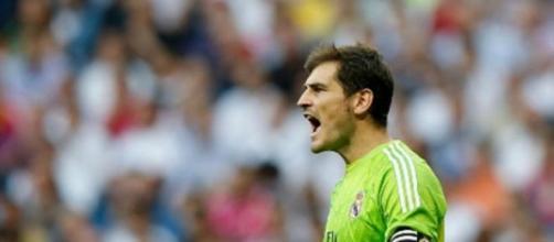 Casillas, en un partido del Real Madrid