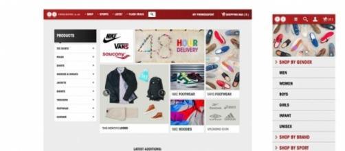 Immagine di un sito di e-commerce di abbigliamento
