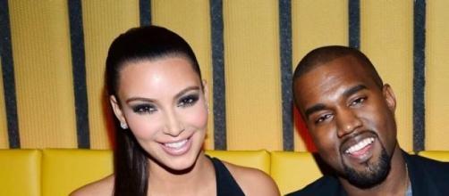 Kim e o marido Kanye West