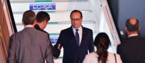L'arrivée de François Hollande à La Havane à Cuba.