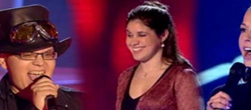 """Tres concursantes del talent show """"La Voz"""""""