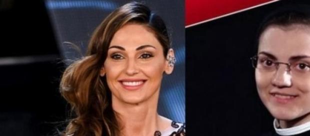 Anna Tatangelo e suor Cristina Libera
