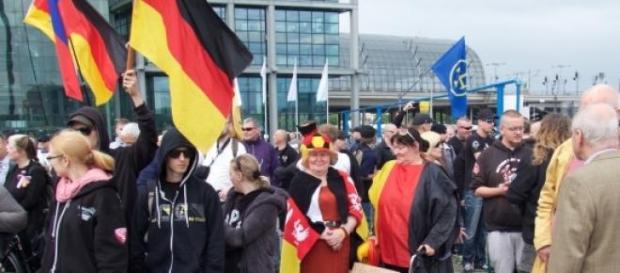 """Foto der """"Reichstagsstürmung"""""""