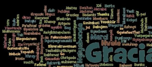 """""""Gracias"""" en varios idiomas"""