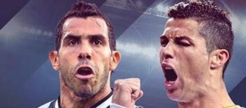 Tevéz y Ronaldo en un duelo de titanes