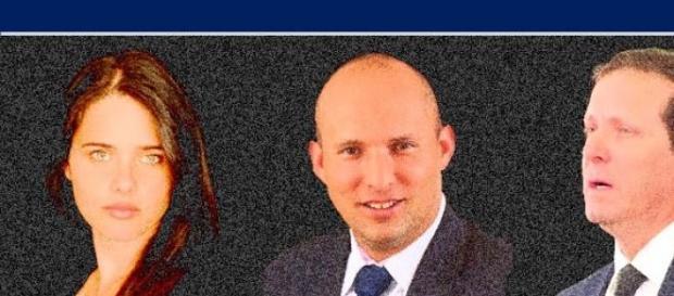 Ayelat Shaked, Naftali Bennett and Isaac Herzog.