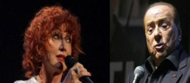 Fiorella Mannoia e Berlusconi